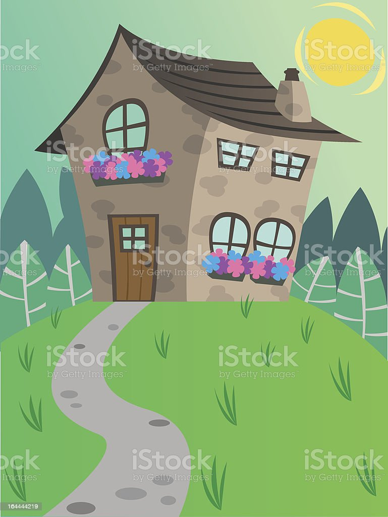 House in the sun. royalty-free stock vector art