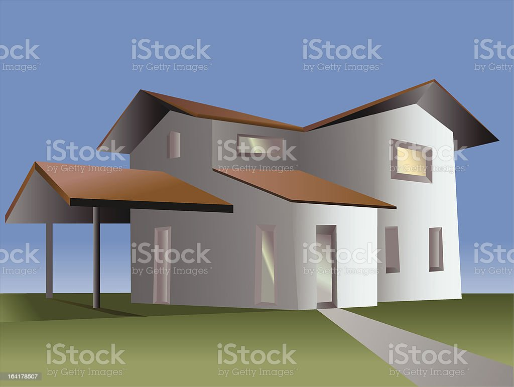 house of campaign vector art illustration