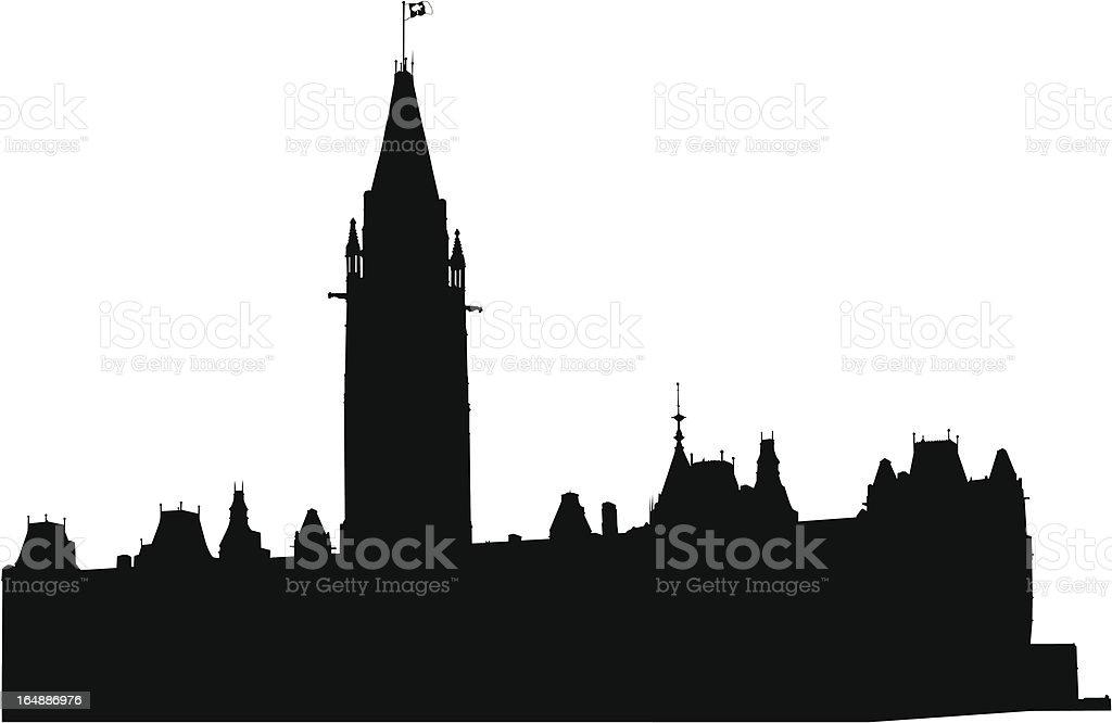 House of Parliament Canada vector art illustration