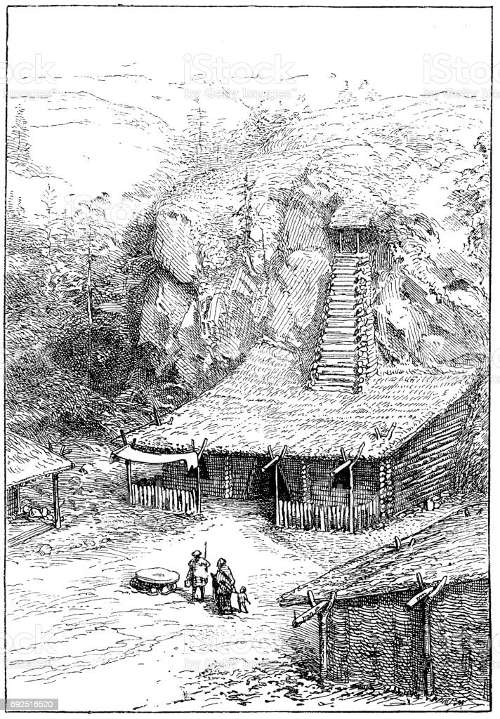 House of the Aryans vector art illustration