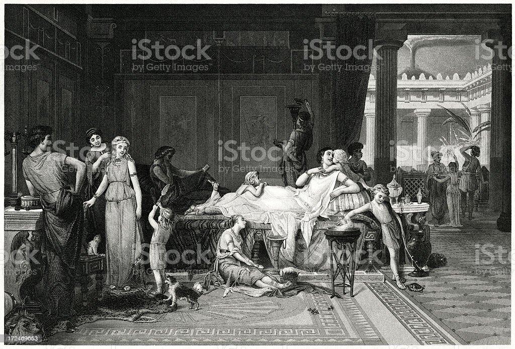 House Of The Tragic Poet, Sallust royalty-free stock vector art