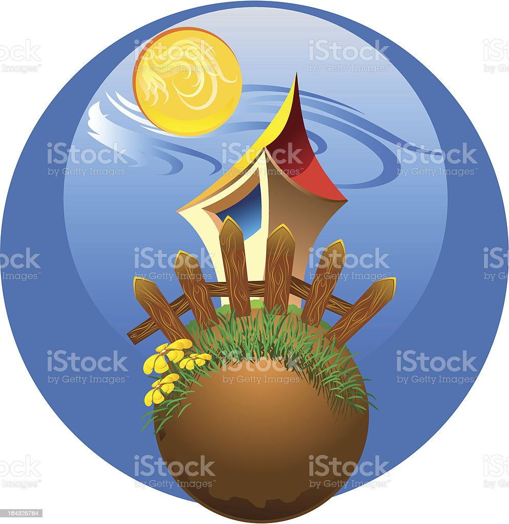 house on the planet royalty-free stock vector art