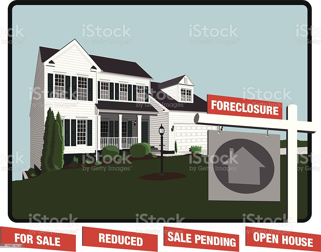 House real estate sign royalty-free stock vector art