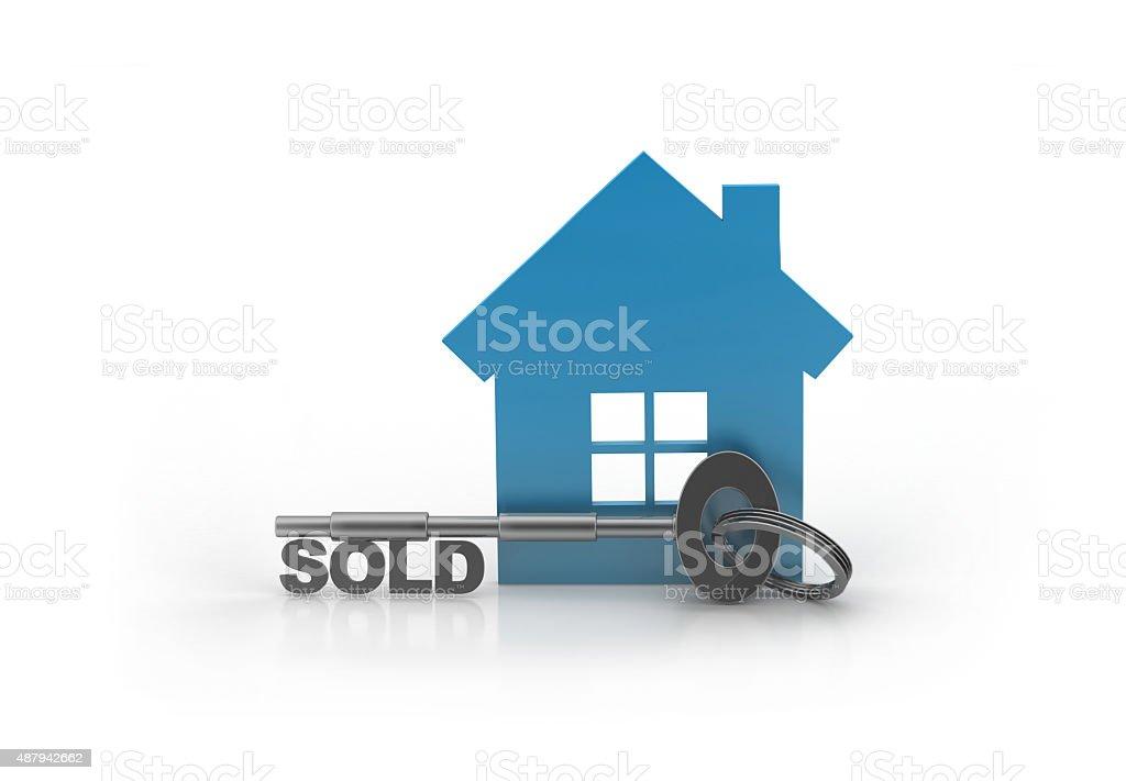 House Sold vector art illustration