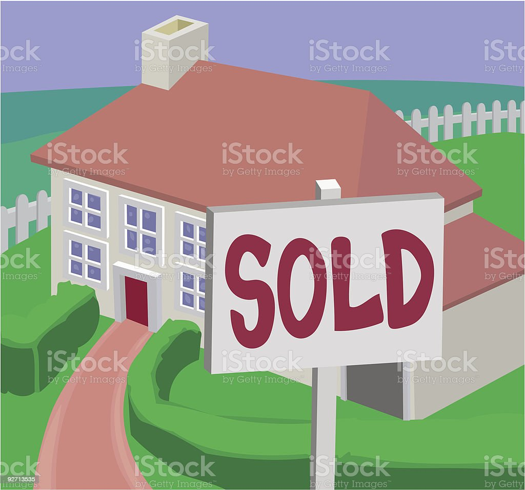 house sold royalty-free stock vector art