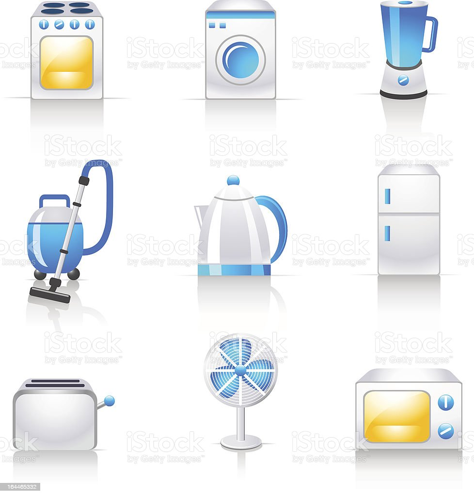 household appliances icons royalty-free stock vector art