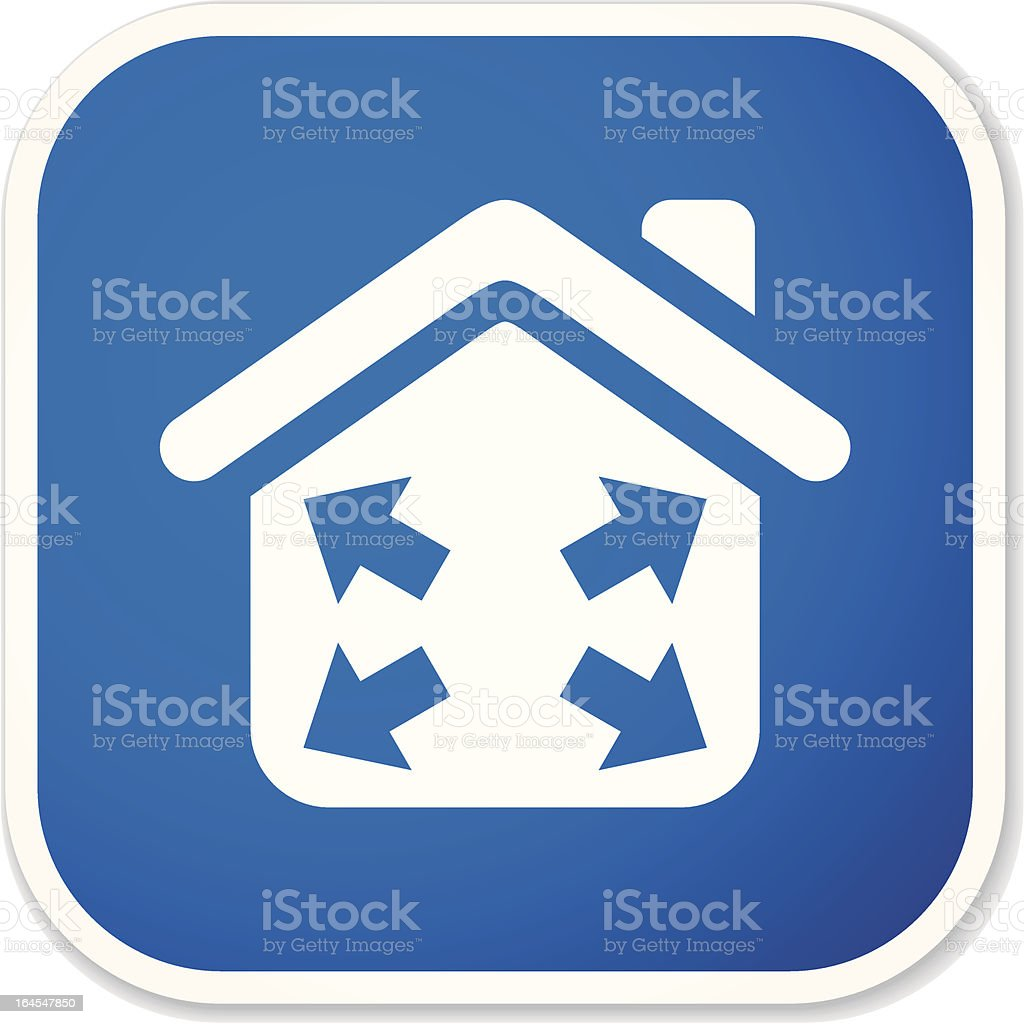 housing development sq sticker vector art illustration