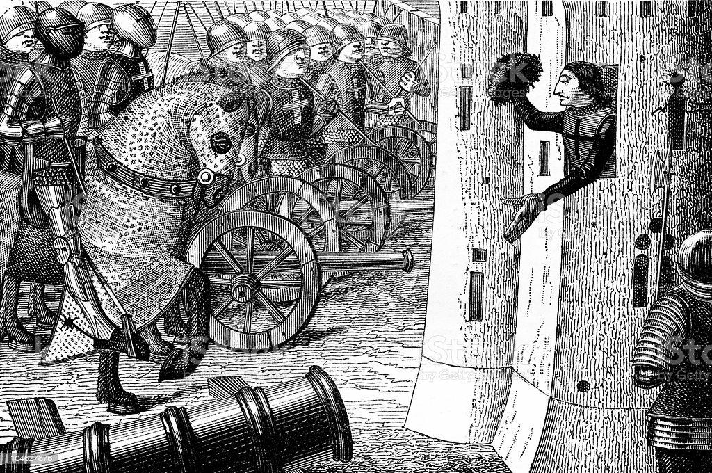 How Duke of Alencon Took the Town royalty-free stock vector art