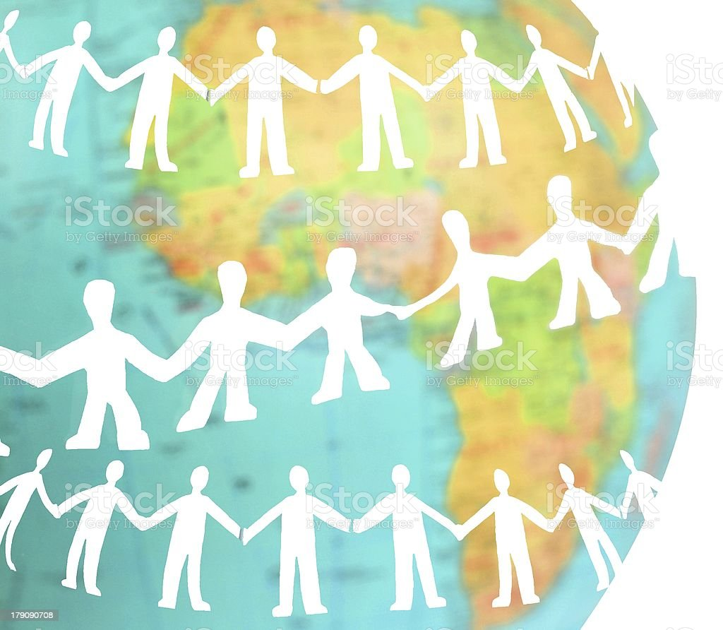 human chain royalty-free stock vector art