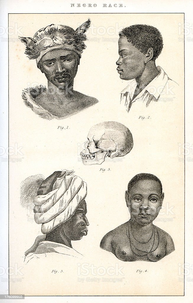 Human Race - African vector art illustration