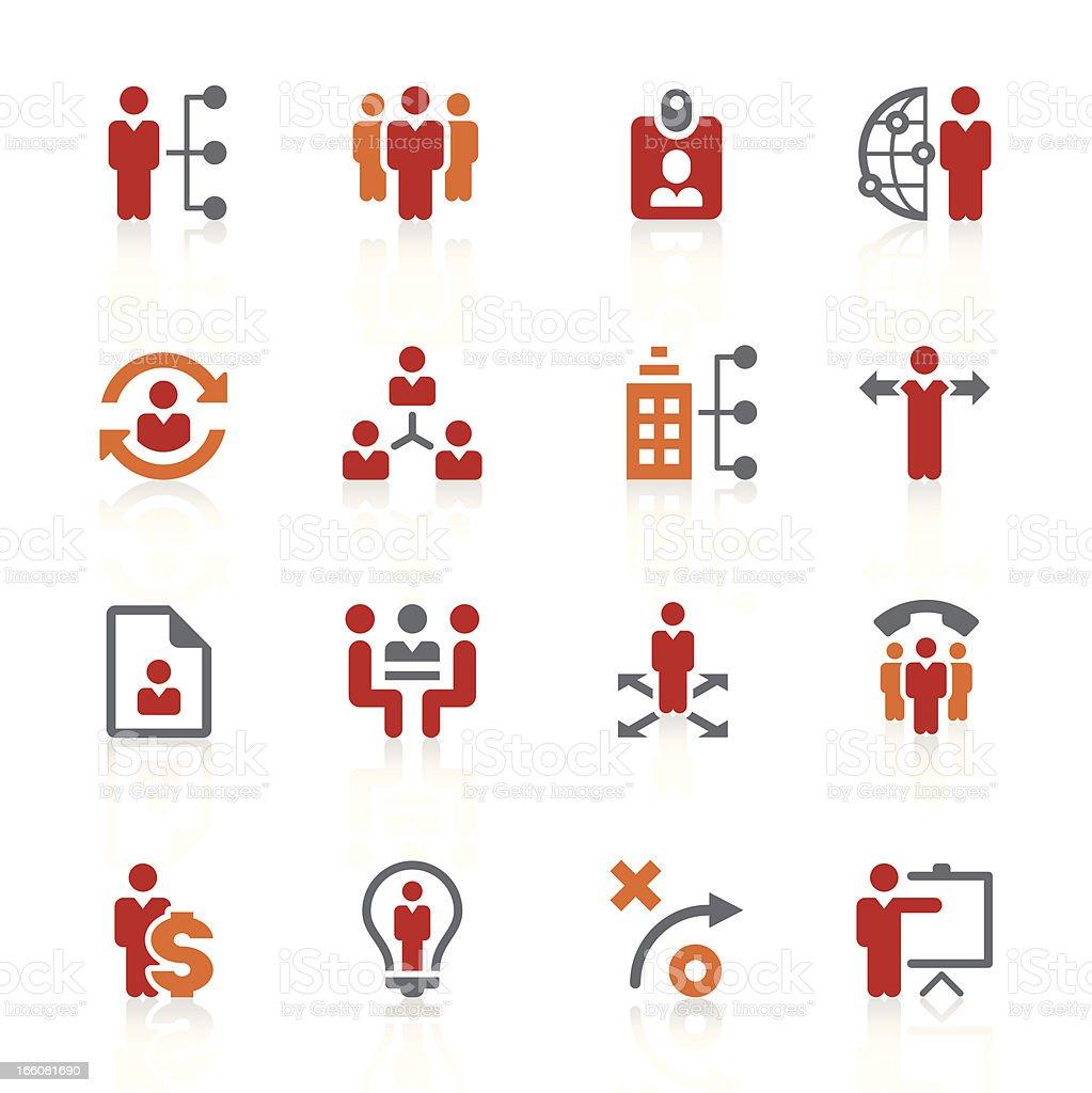 human resource management icons - alto series vector art illustration