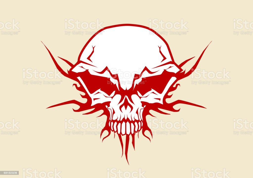 human skull royalty-free stock vector art