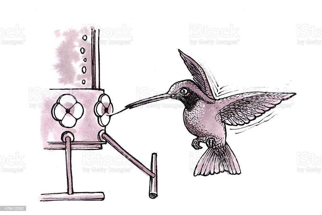 Kolibri (Comic) Lizenzfreies vektor illustration