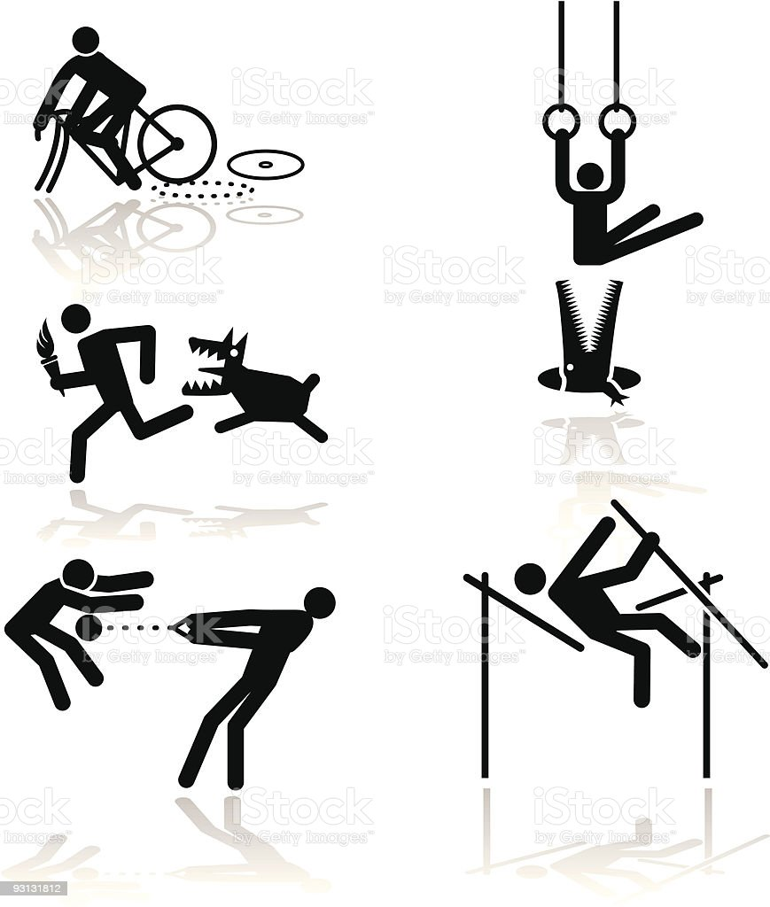 Humor olympic games - 1 vector art illustration
