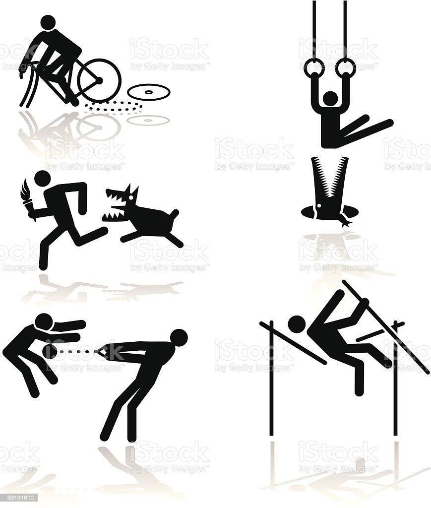 Humor olympic games - 1 vector art illustration