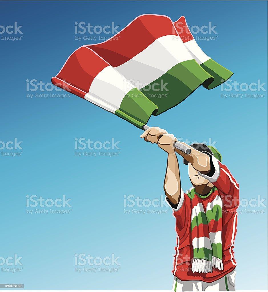 Hungary Waving Flag Soccer Fan royalty-free stock vector art