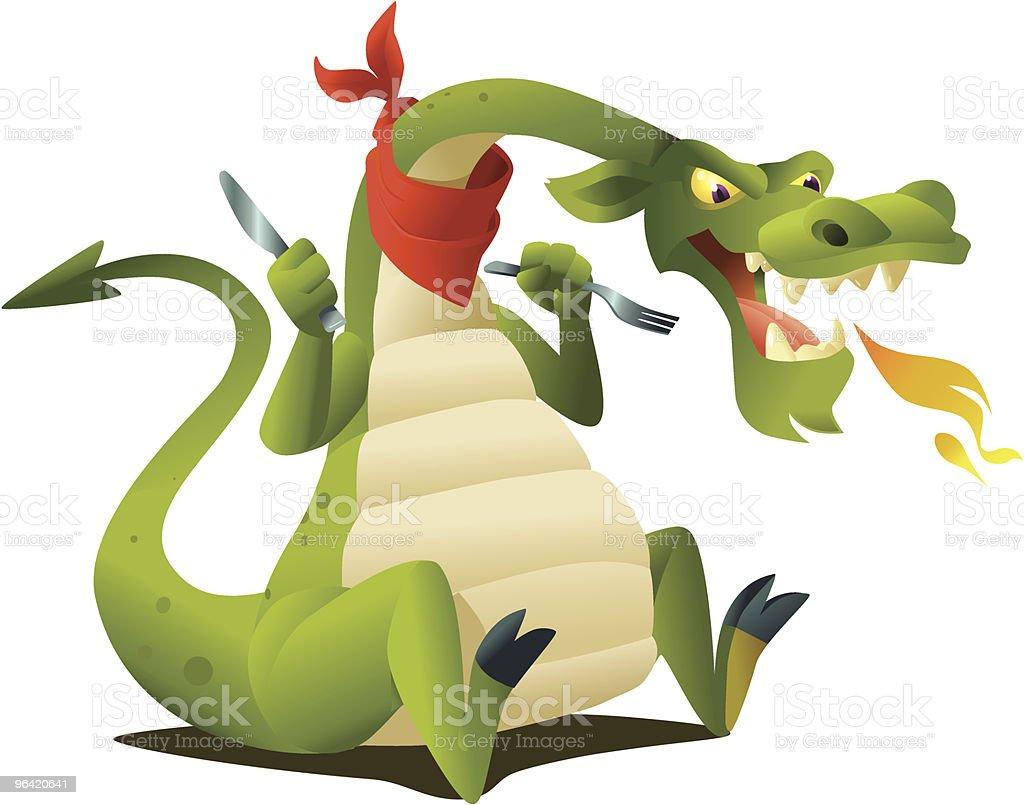Hungry Dragon vector art illustration