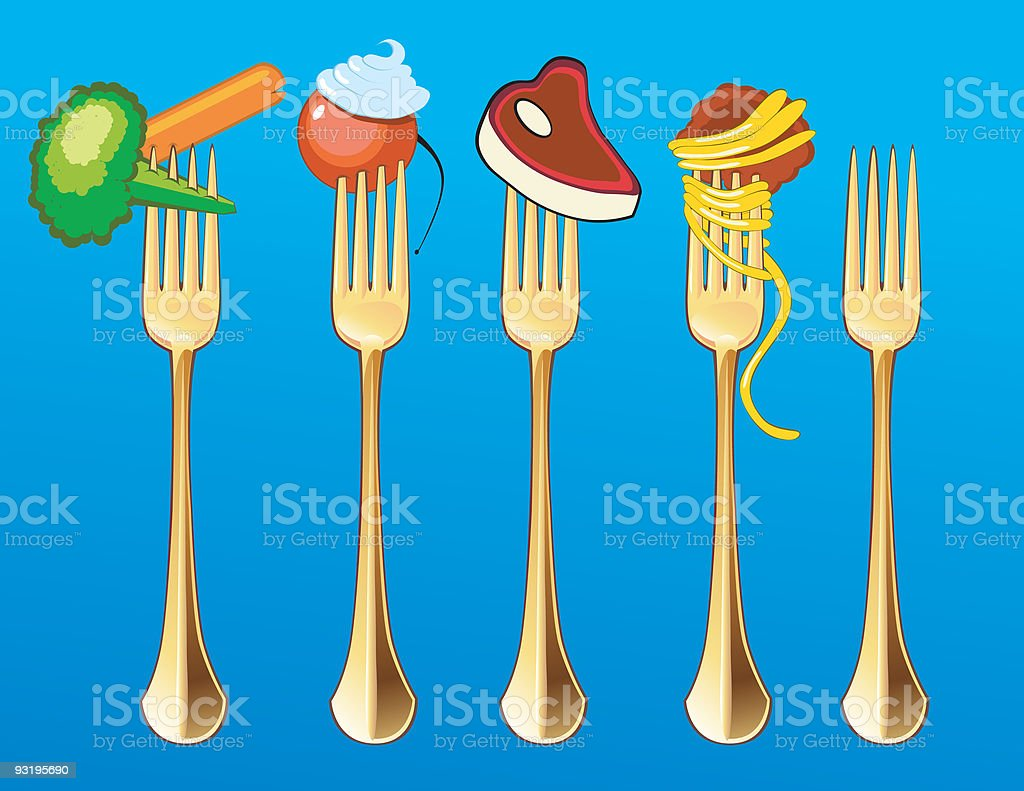 Hungry?.....Grab a Fork vector art illustration