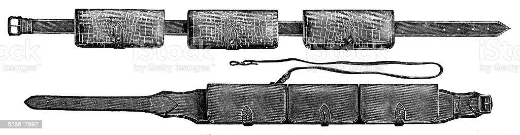 Hunting ammunition vector art illustration