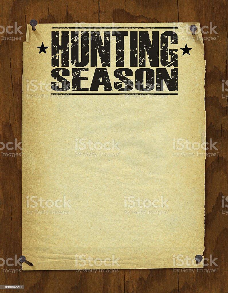 Hunting Season Poster - Retro Background royalty-free stock vector art