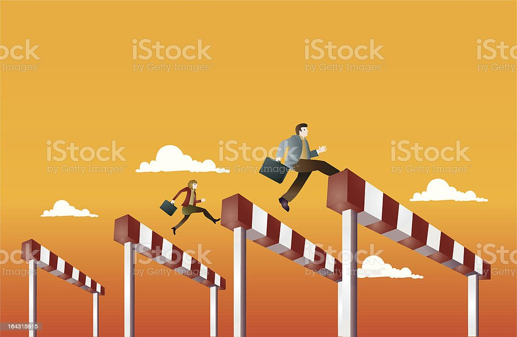 Hurdle royalty-free stock vector art