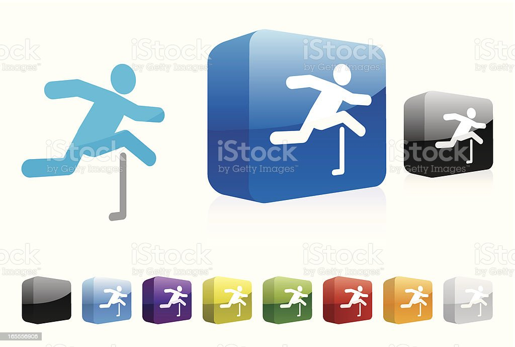 Hurdles | 3D Collection royalty-free stock vector art
