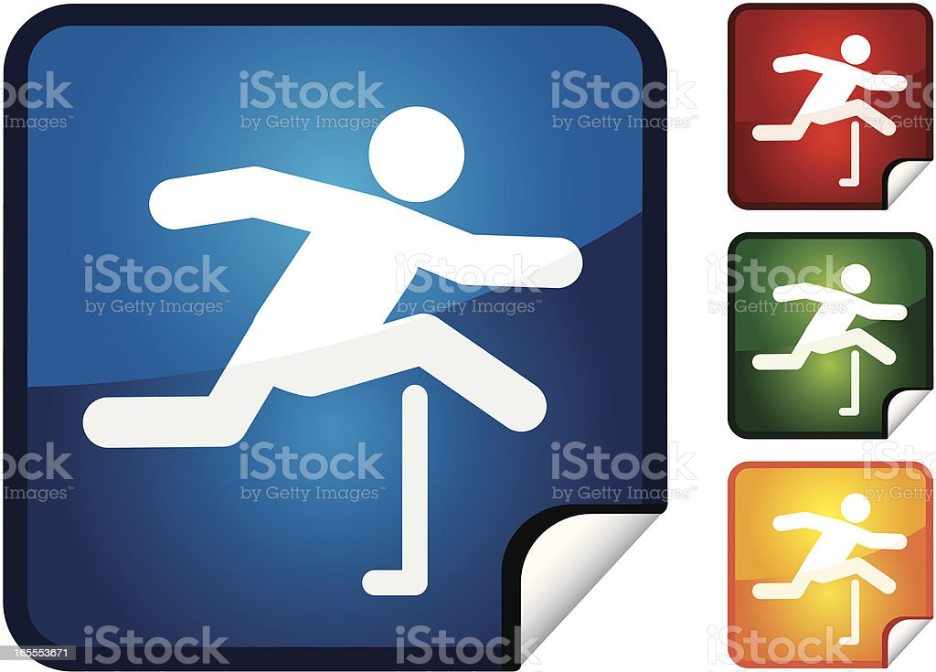 Hurdles | Sticker Collection royalty-free stock vector art