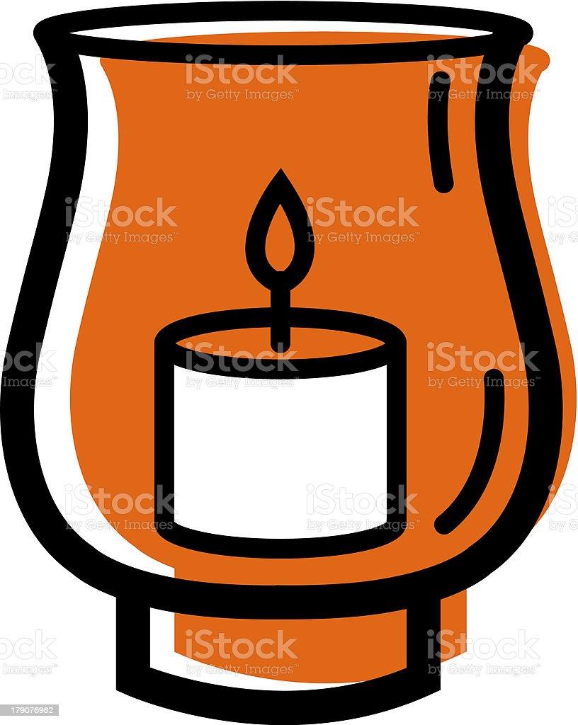 Hurrican lamp vector art illustration