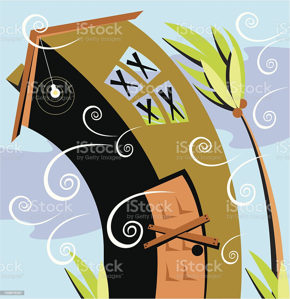 Hurricane house royalty-free stock vector art