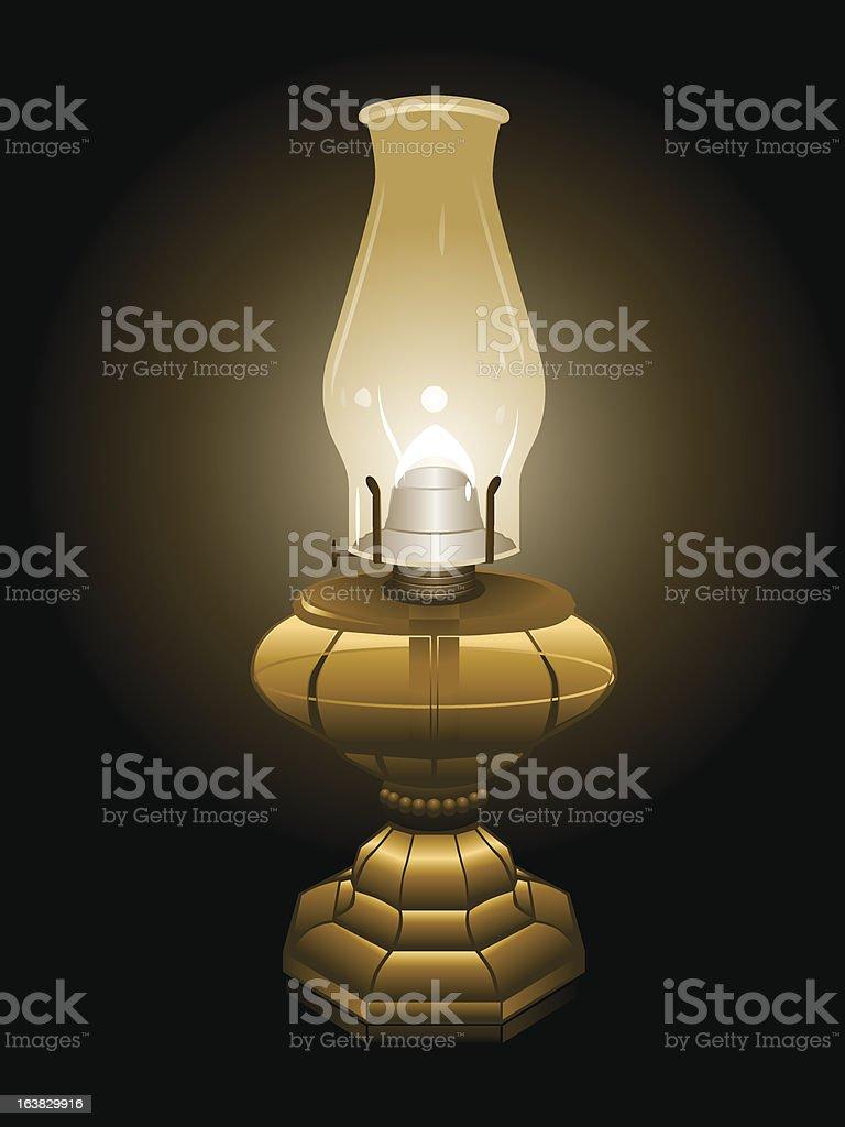Hurricane lamp illustration vector art illustration