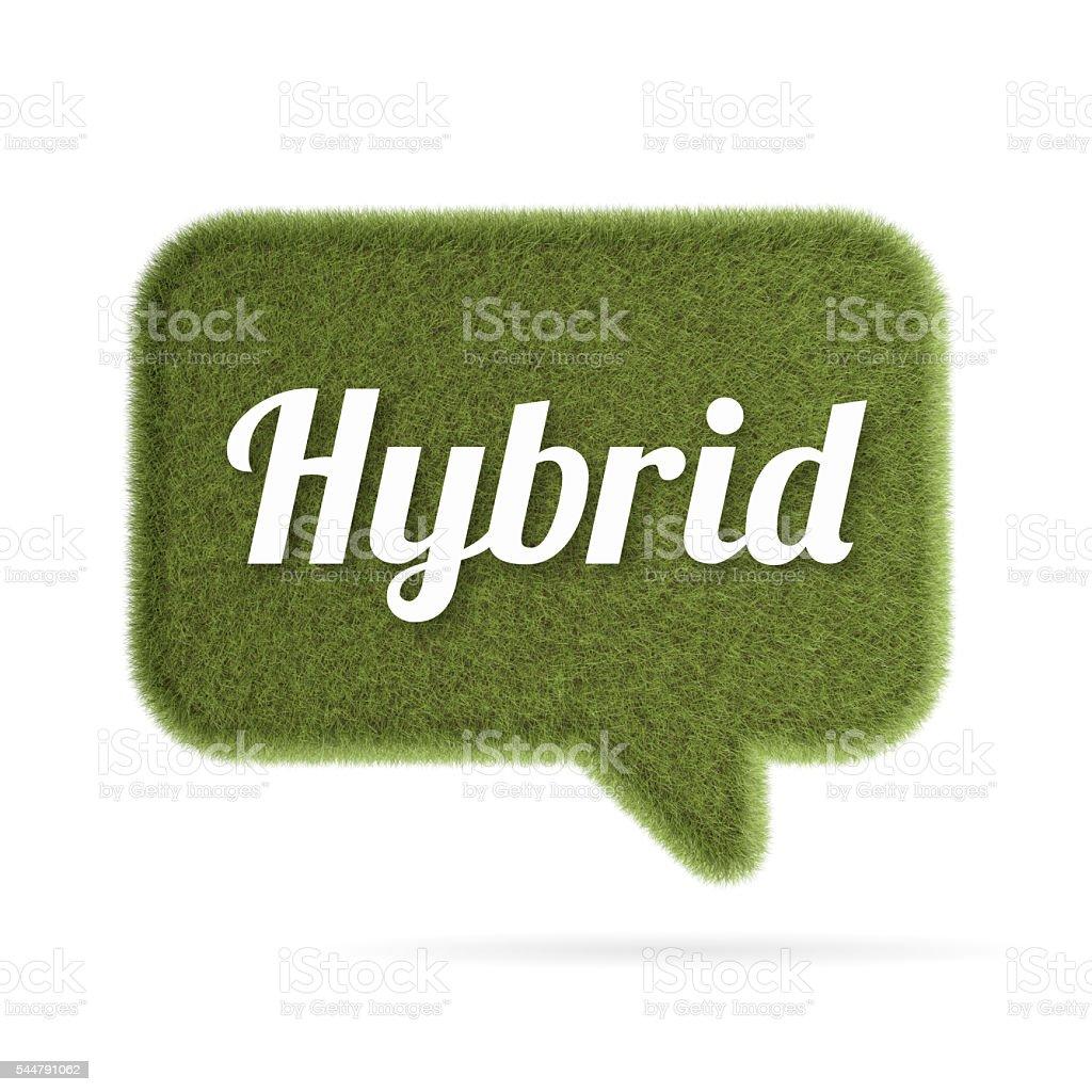 Hybrid grass speech bubble vector art illustration