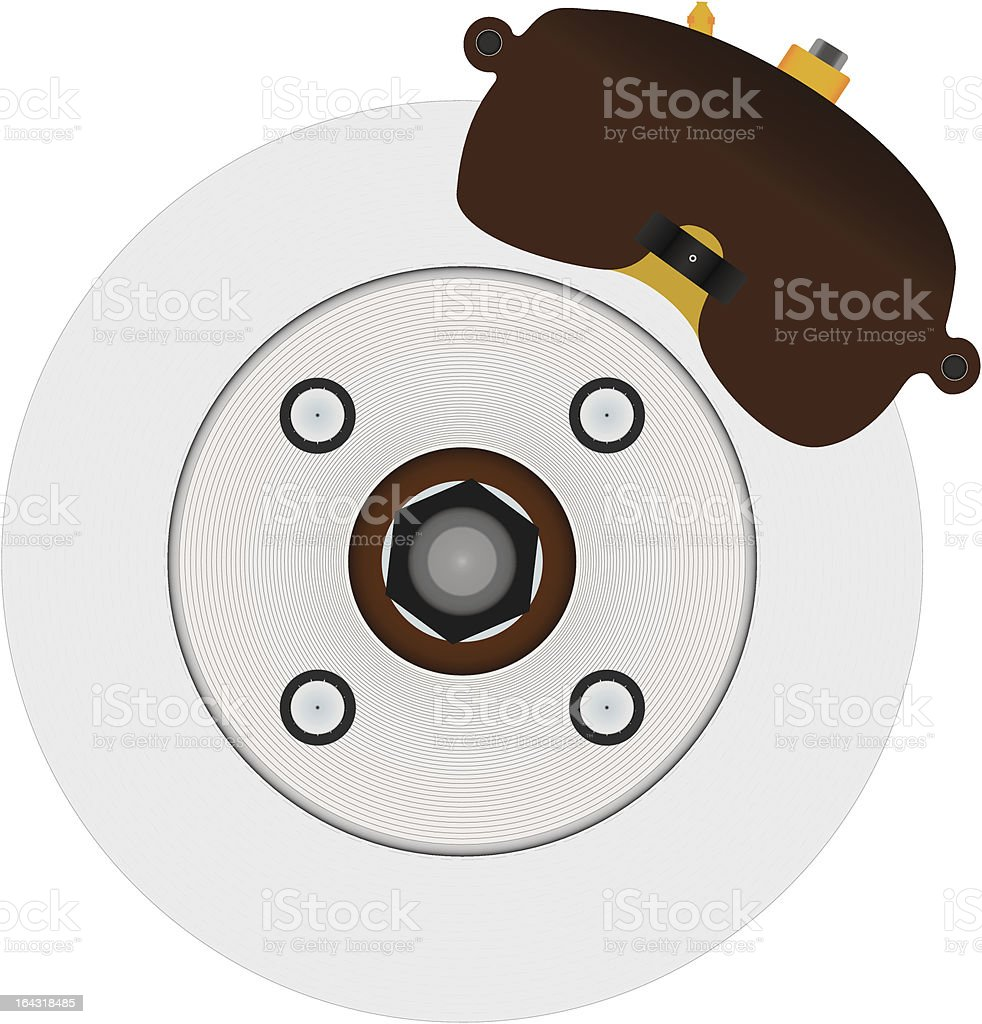 Hydraulic Disc Brake System royalty-free stock vector art