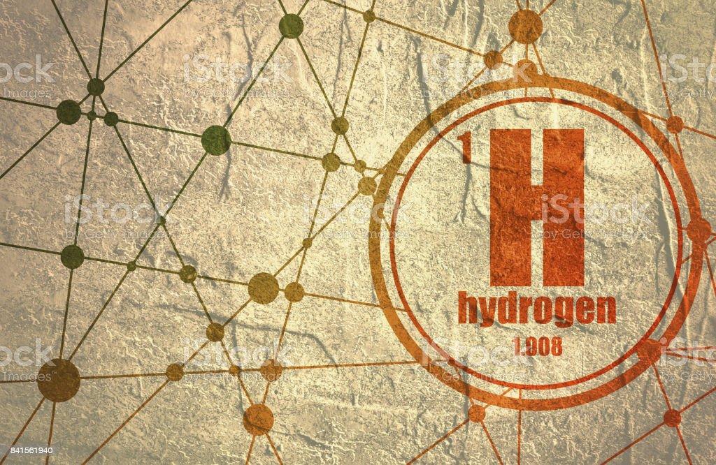 Hydrogen chemical element. vector art illustration