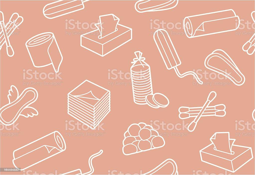 Hygiene means background vector art illustration