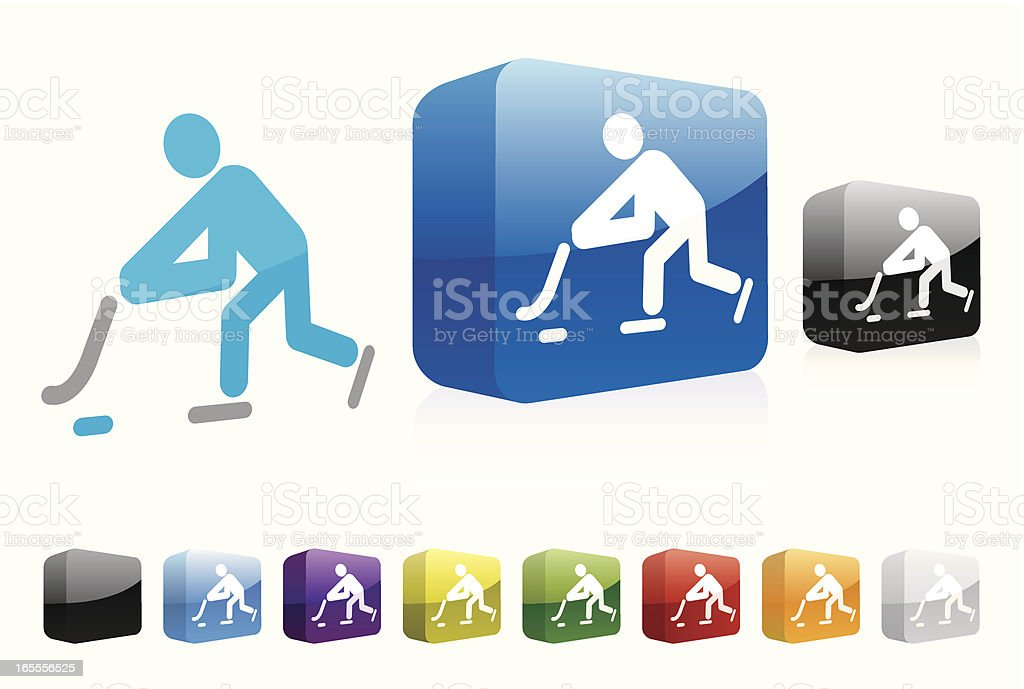 Ice Hockey | 3D Collection royalty-free stock vector art
