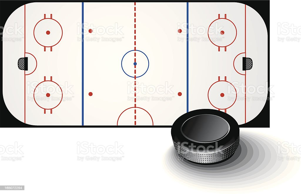 Ice hockey royalty-free stock vector art