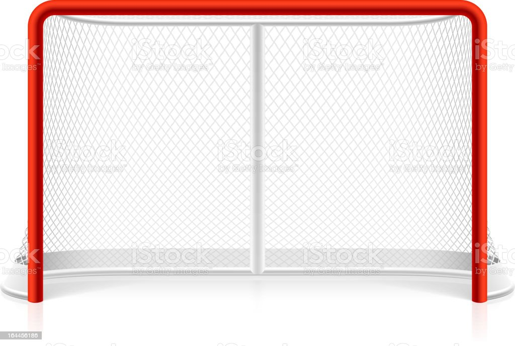 Ice hockey net vector art illustration
