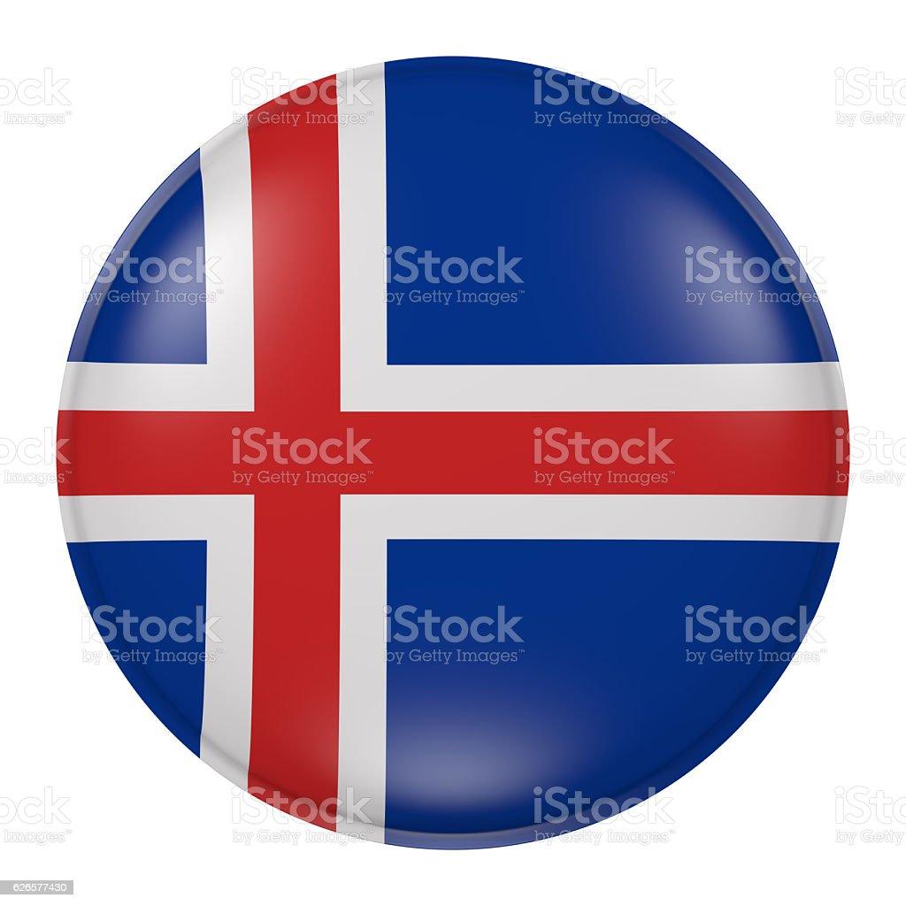 Iceland button vector art illustration
