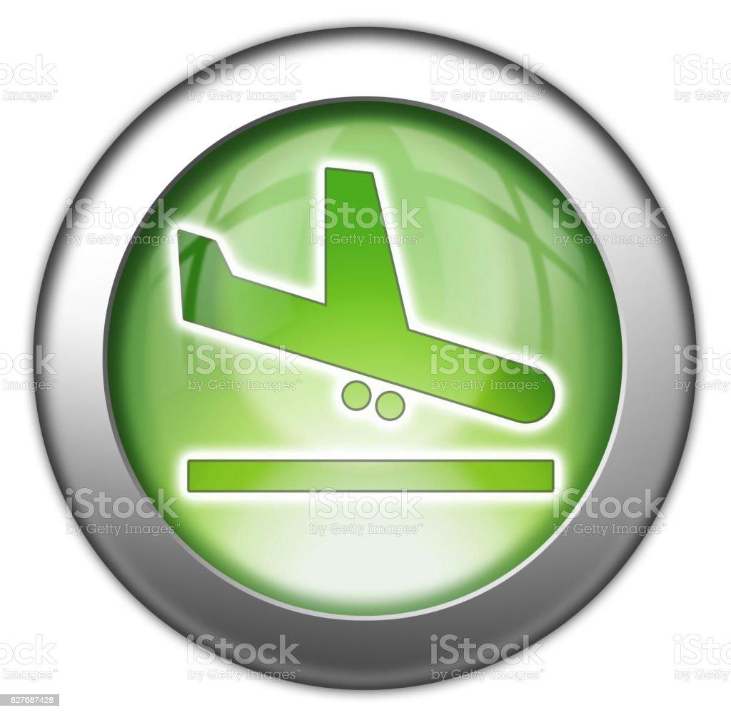 Icon, Button, Pictogram Airport Arrivals vector art illustration