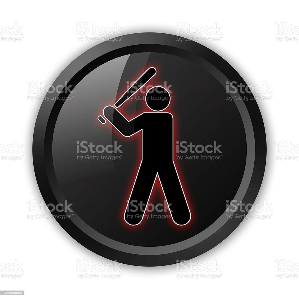 Icon, Button, Pictogram Baseball royalty-free stock vector art