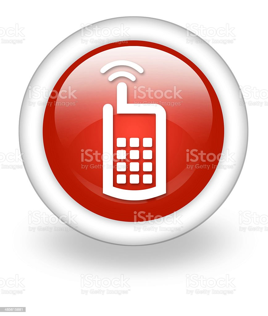 Icon, Button, Pictogram Cell Phone royalty-free stock vector art