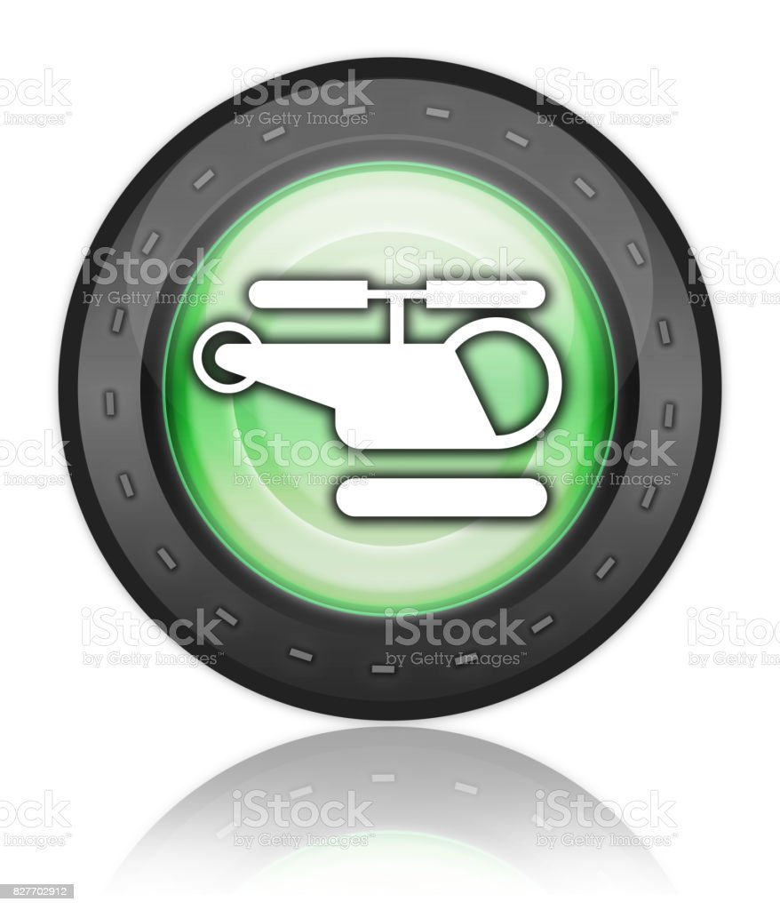 Icon, Button, Pictogram Heliport vector art illustration