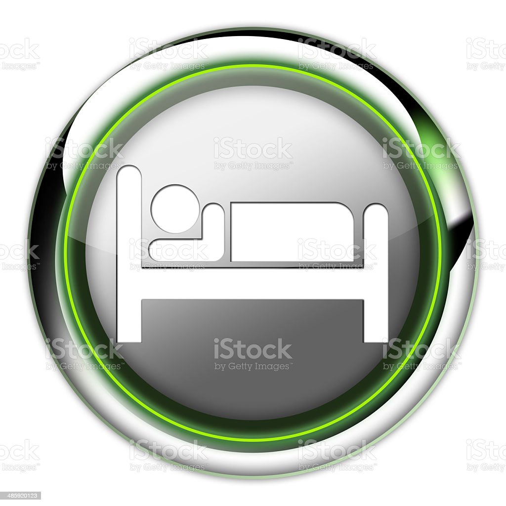 Icon, Button, Pictogram Hotel, Lodging vector art illustration