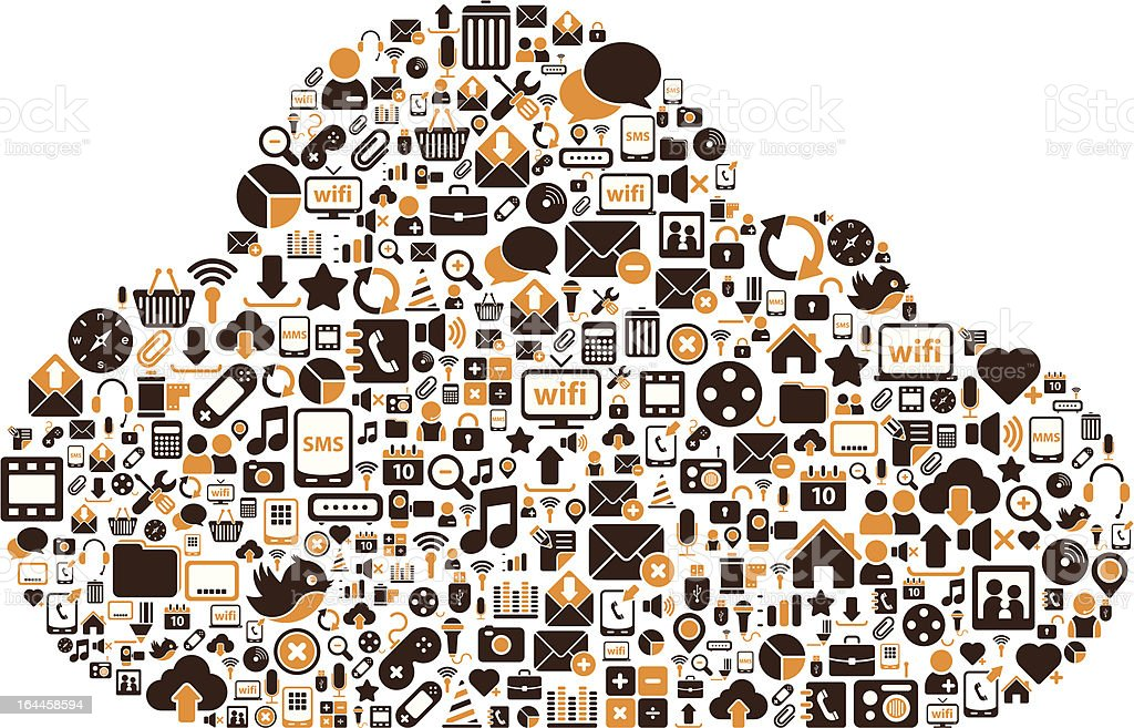 Icon Cloud royalty-free stock vector art