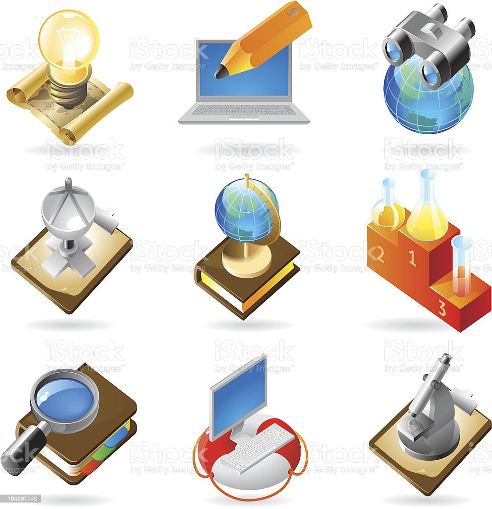 Icon concepts for science royalty-free stock vector art