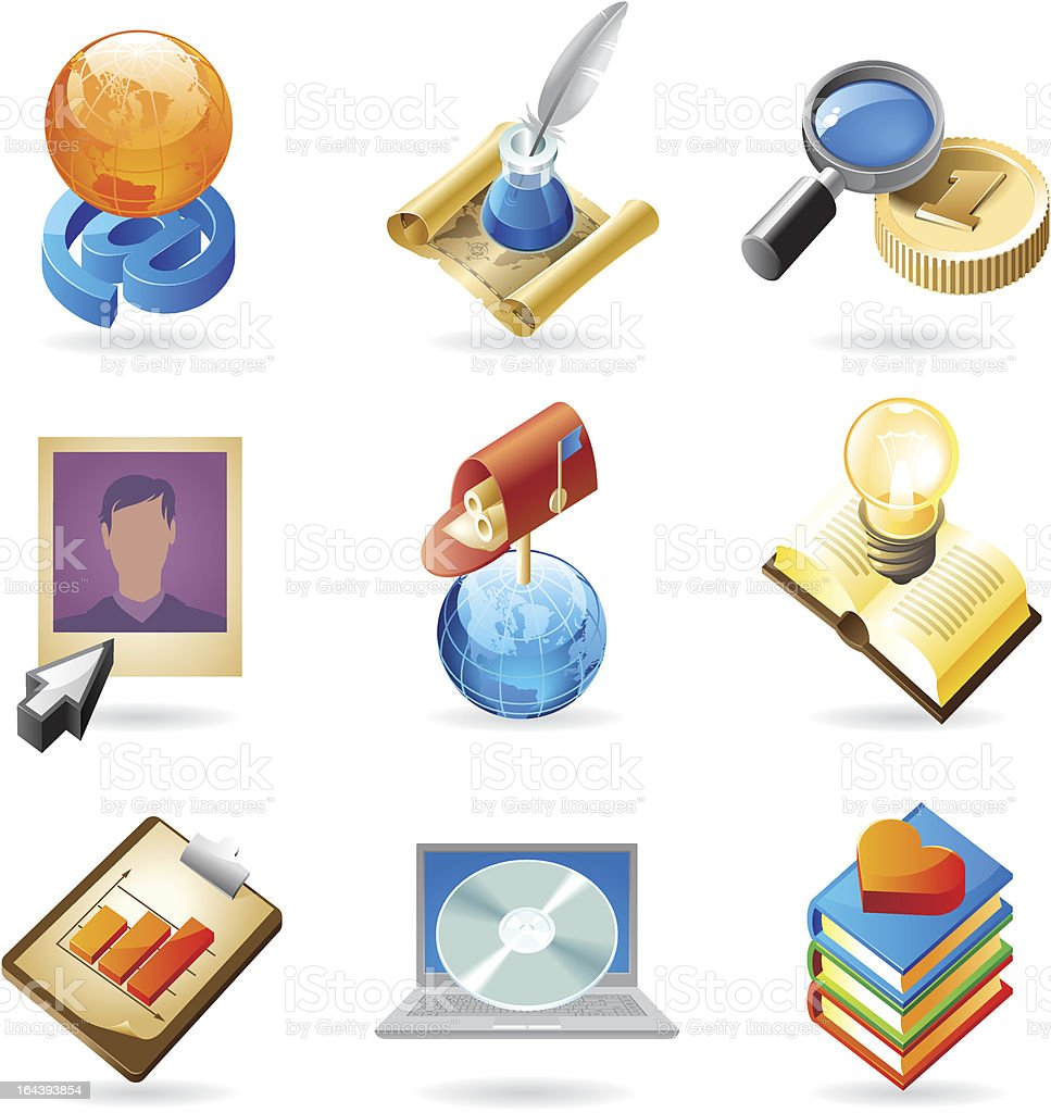 Icon concepts for web royalty-free stock vector art