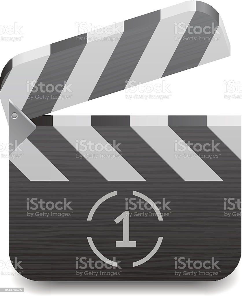 Icon for clapper board royalty-free stock vector art