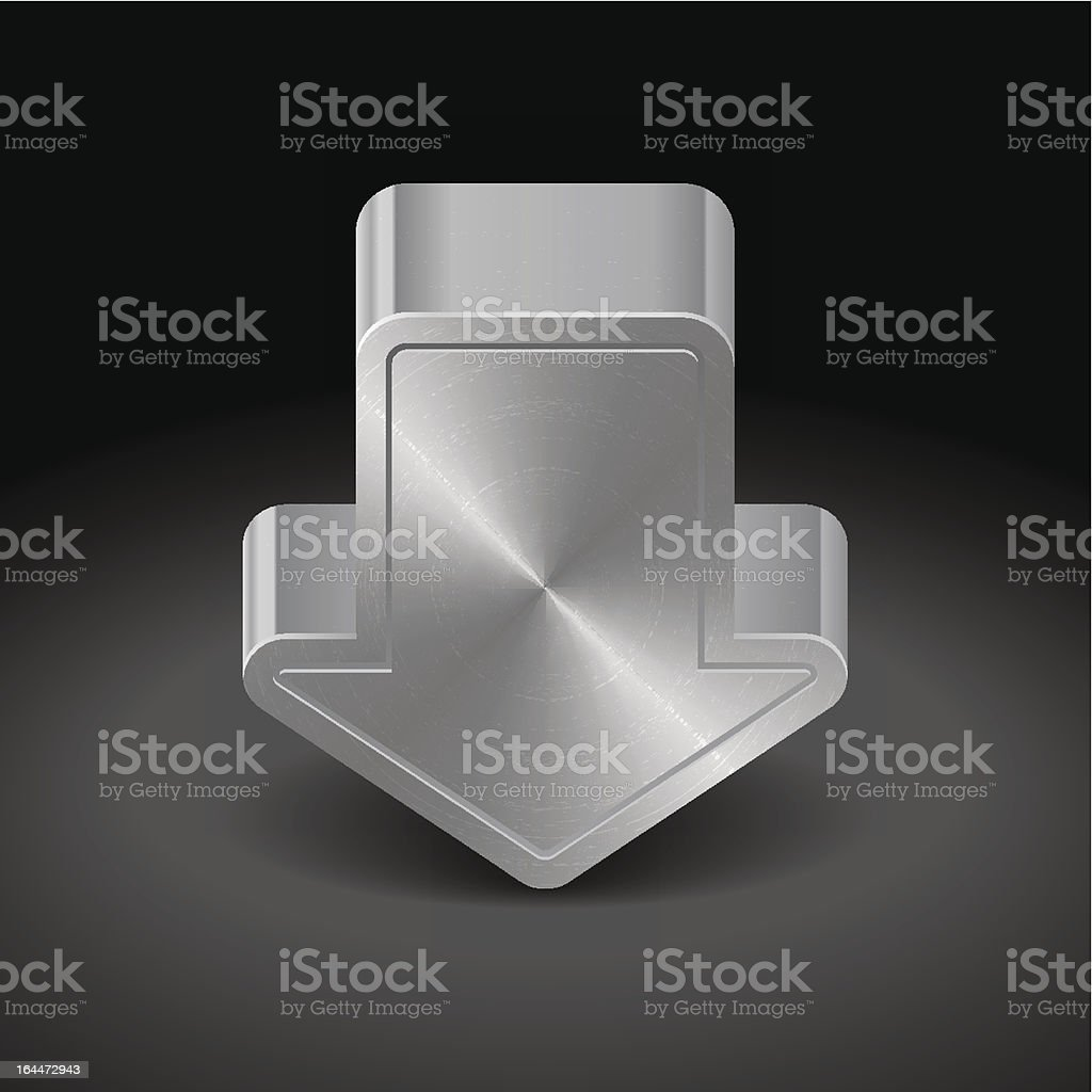 Icon for web download royalty-free stock vector art