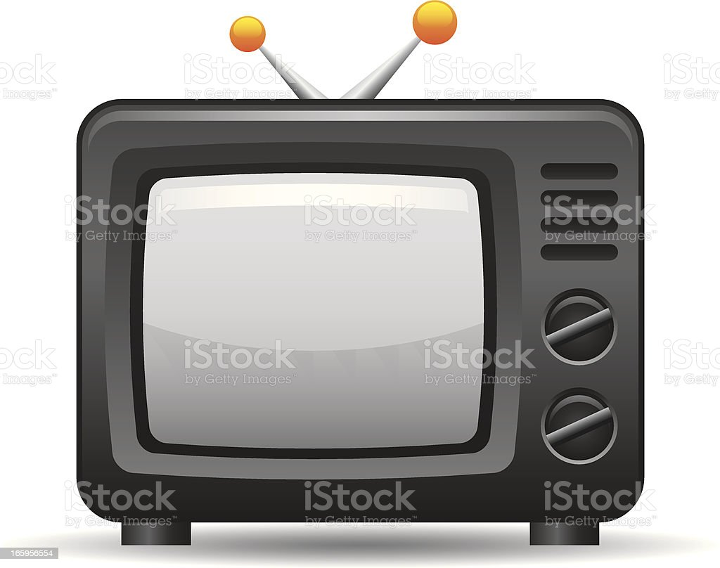 TV Icon vector art illustration