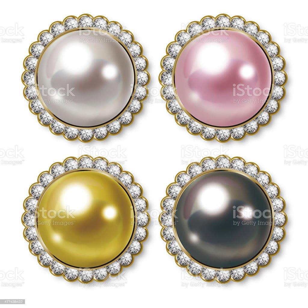 Icon of pearl. Illustration. vector art illustration